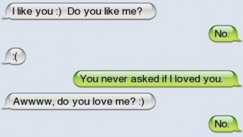 ahahah, asked, awwww, fail, haha, like, lol, love, loved, never, you