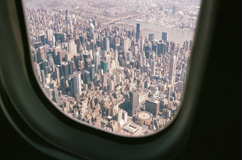 air, airplanes, buildings, city, flying, plane, view, window