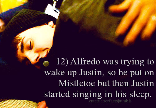 alfredo flores, bieberfact, cute, facts, justin bieber, mistletoe