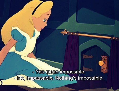 alice, alice in wonderland, cute, disney, impossible