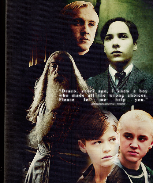 all the wrong choices, draco malfoy, dumbledore, half blood prince, harry potter