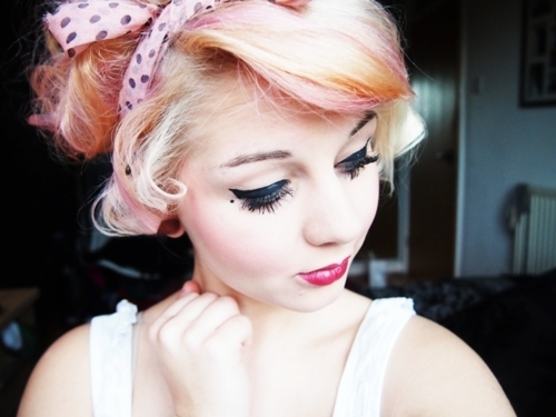 alternative, amazing, bandanna, catherine, cute, eyes, fashion, gauge, girl, gorgeous, hair, hair style, lipstick, lovely, model, photography, pink hair, plug, pretty, scene, style