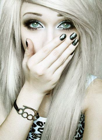 alternative, blonde, blue eyes, cute, girl