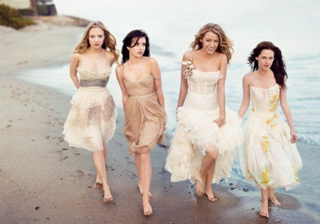 amanda seyfried, beach, beautyfantasy, blake lively, emma roberts