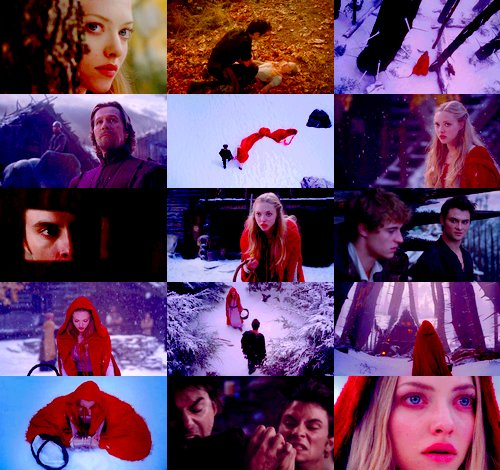 amanda seyfried, beauty, black, blonde, red riding hood