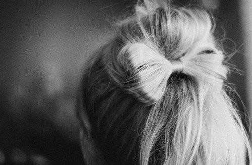 amazing, black and white, blonde, bokeh, bow