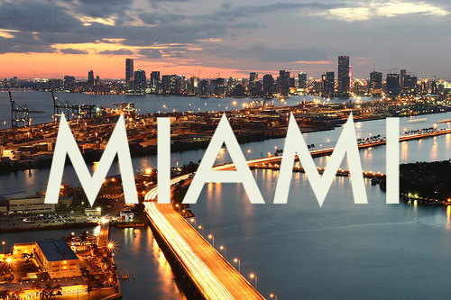 america, beautiful, city, florida, miami, usa, view