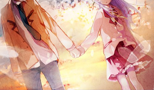angel, angel beats, anime, beats, blossom