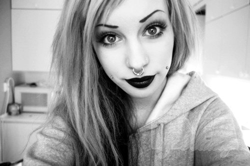 angelica murderotic, emo girl, girl, piercing, pretty, septum