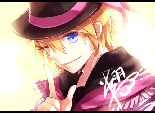 anime, anime boy, blue eyes, boy, cool, cute, pink, sweet