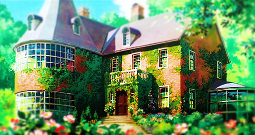 anime, beautiful, ghibli, green, house