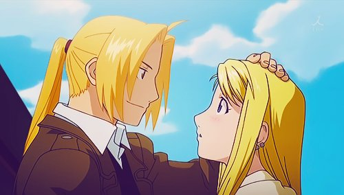 anime, brotherhood, couple, cute, edward and winry, edward elric, edwin 503, fullmetal alchemist, love, winry rockbell