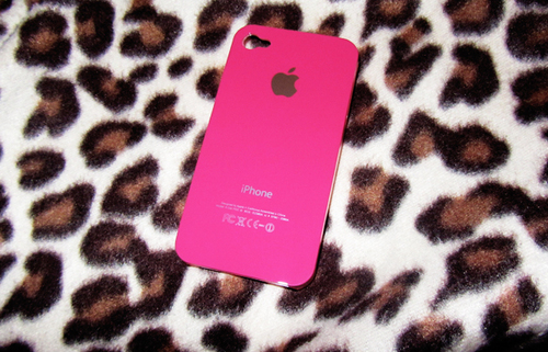 apple, iphone, pink