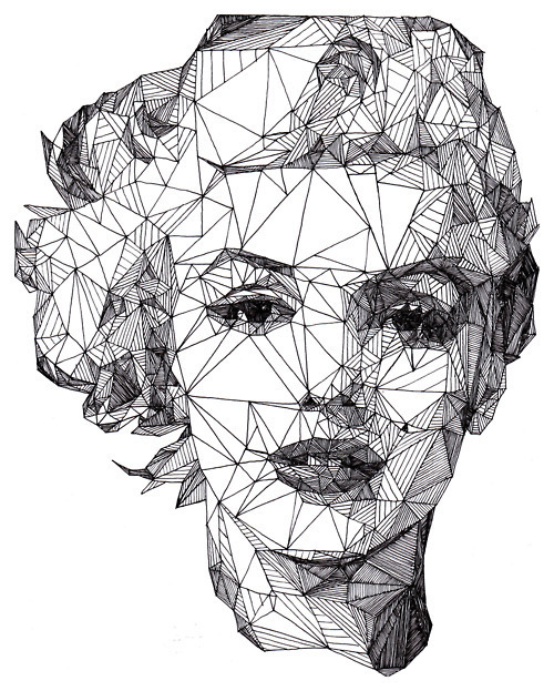 art, black and white, marylin monroe, picture