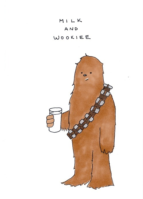 art, chewbacca, chewy, cute, drawing