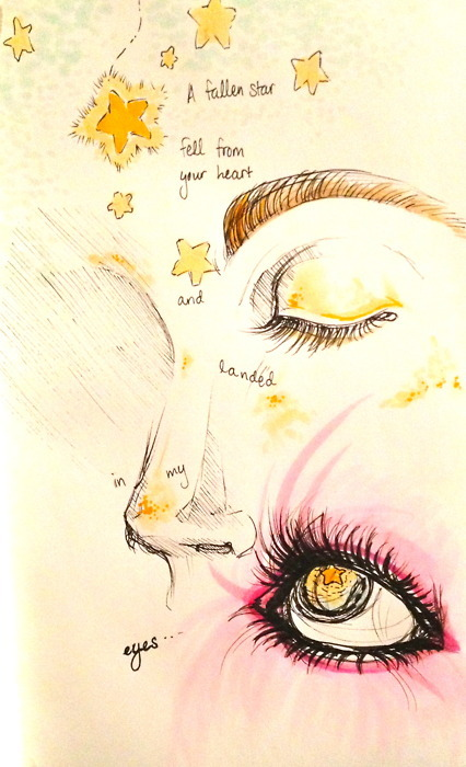 art, cosmic love, drawing, florence   the machine, florence and the machine, lyrics, star