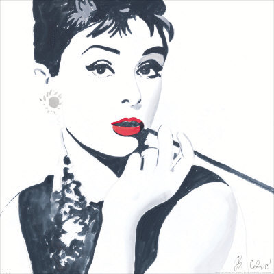 audrey, audrey hepburn, hepburn, kiss, old, red, smoke