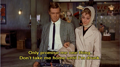 audrey hepburn, breakfast at tiffanys, drunk, home, promise