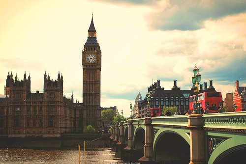 autumn, beautiful, big ben, bridge, buildings