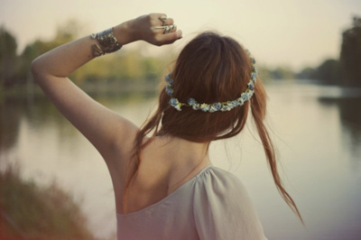 autumn, dream, dreams, girl, hair, lake, lost, summer