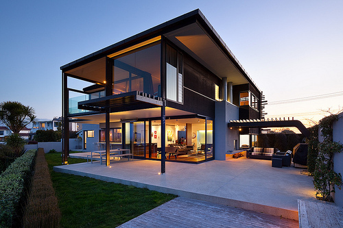 awasome, beautiful, big, cool, house, night, photo, photograph, picture, pretty