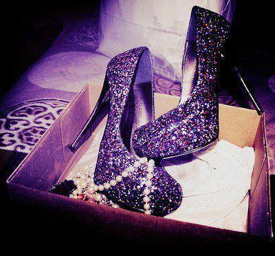 awesome, black and white, cool, cute, diamonds, fashion, girl, girly, heels, nice, photography, purple, shoes, sparkly, style, women
