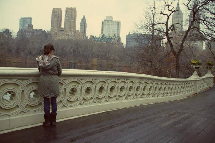 awsome, beautiful, bridge, brunette, central park
