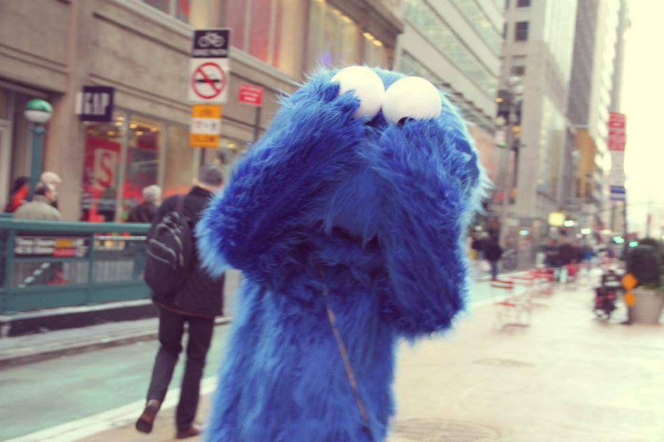 awsome, bleue, blue, city, cookie monsta