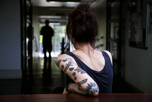 aww, back, coo, girl, hair, hands, tattoo, tattoos