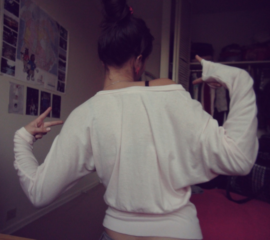 back, bun, cute, fingers, girl
