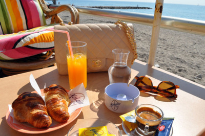bag, beach, breakfast, chanel, delicious, food, ocean, sea, summer, sunglasses, tea, vacation, water
