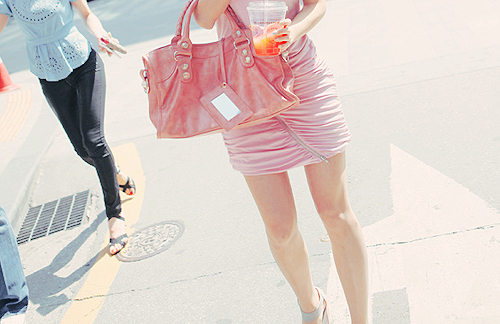 bag, beautiful, clothes, dress, drink, fashion, outfit, pink, pretty, style