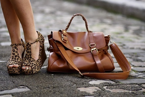 bag, brown, fashion, girl, heels, high, high heels, leoprint, shoes