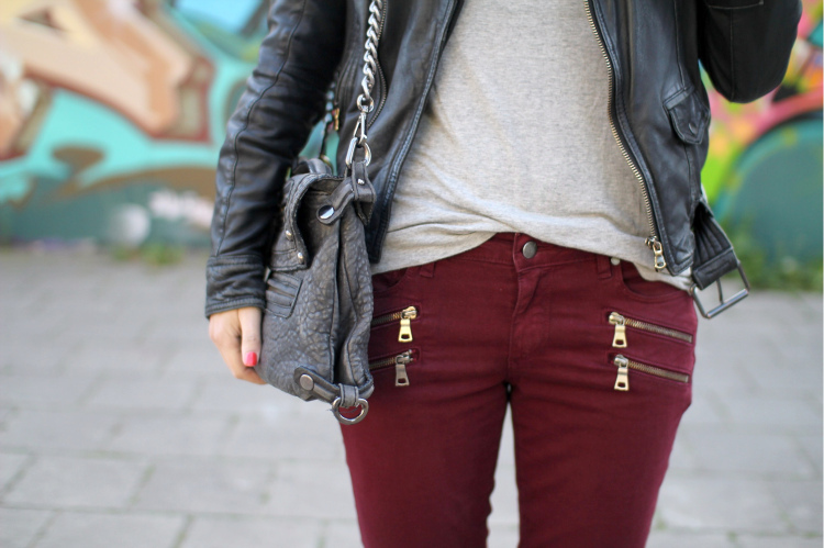 bag, clothes, fashion, jeans, leather jacket