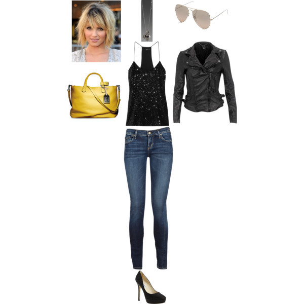 bags, casual day, hairstyles, jackets, jeans, necklaces, pants, peep toe shoes, polyvore, sunglasses, t-shirts