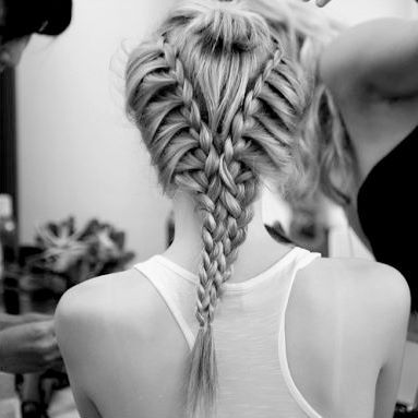 b&w, beautiful, blond, blonde, braid