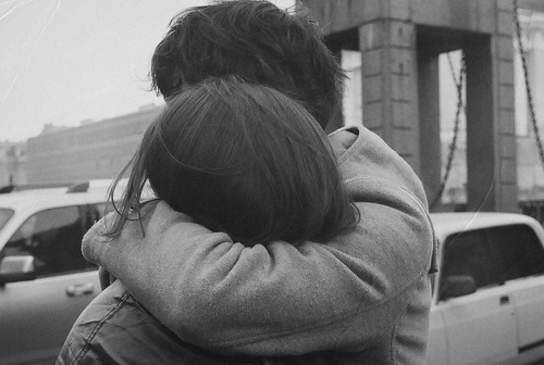 b&w, black and white, blackandwhite, boy, couple, cute, friends, girl, hug, london, photography