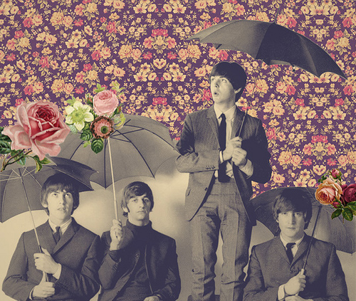 band, beatles, george harrinson, john lennon, liverpool, music, paul mccartney, pink, pretty, ringo, rose, takbokke, the beatles