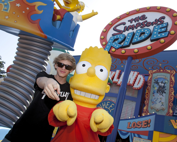 bart simpson, cody simpson, the simpsons, the simpsons ride