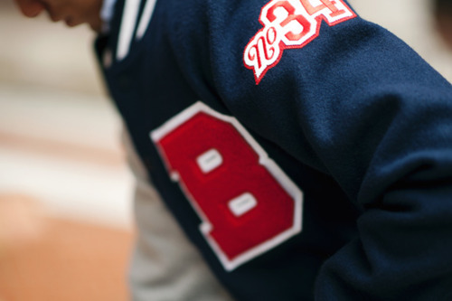 baseball, blue, boy, fashion, red, style, sweatshirt