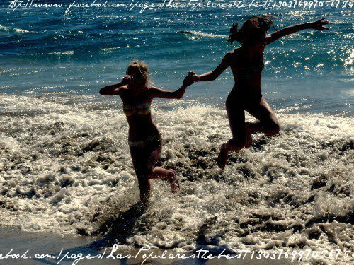beach, bikini, camila salazar, enjoy, friends, friendship, fun, girls, love, sea, summer, water