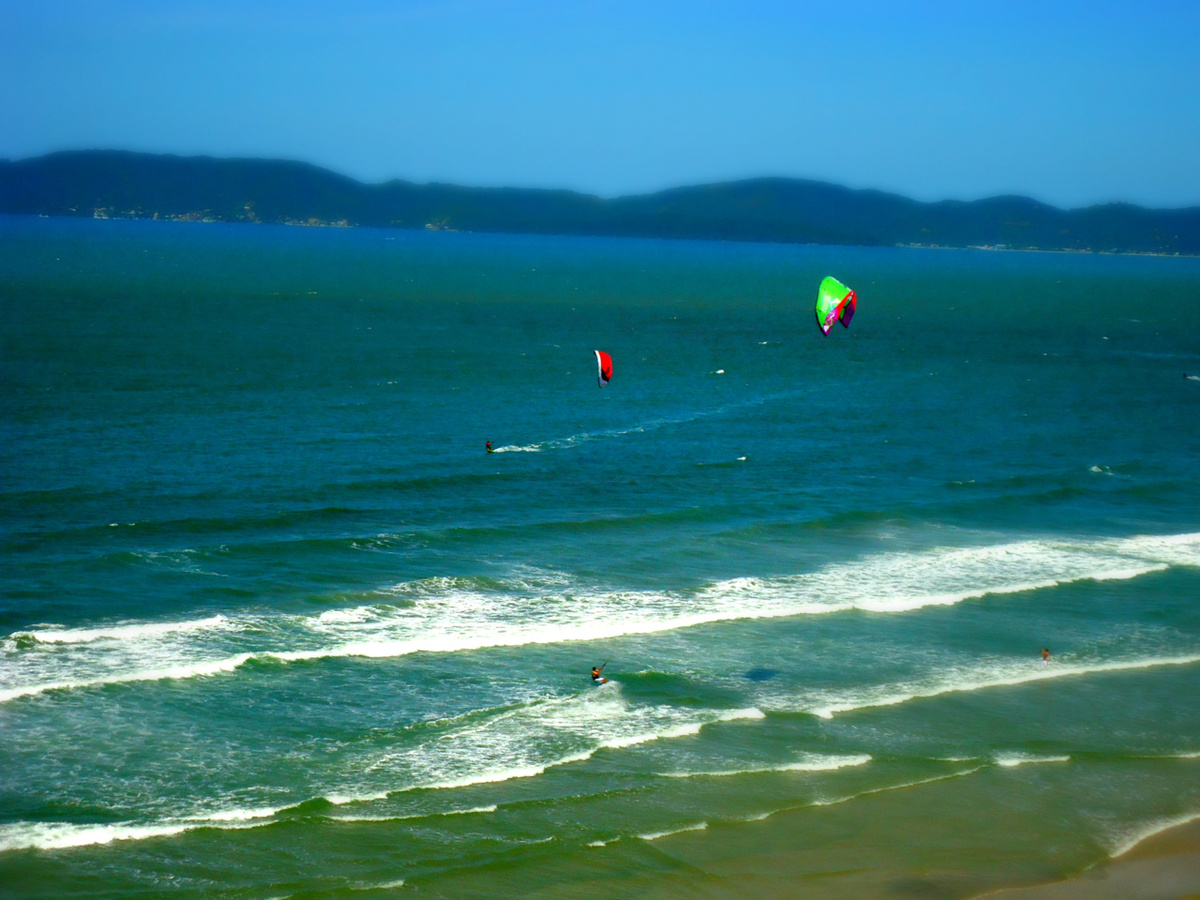 beach, blue, brasil, brazil, kitesurf