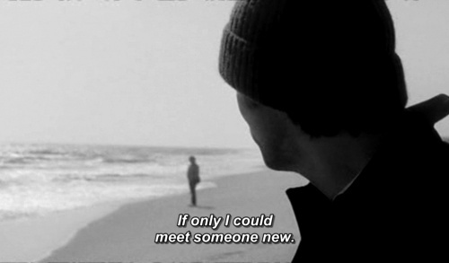 beach, eternal sunshine of the spotless mind, someone new