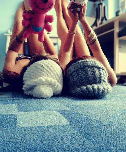 beanie, beautiful, best friends, cute, fashion, friends, friendship, girl, girls, sweet