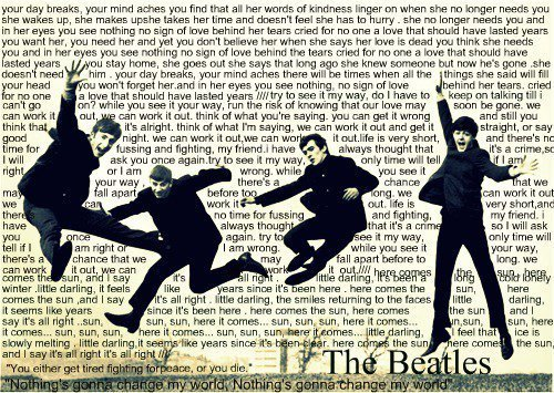 beatles, boys, famous, lyrics, music