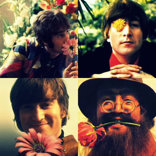 beatles, flower, john lennon, lennon