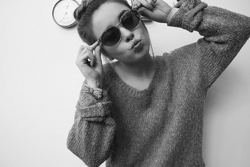 beautiful, beauty, black and white, dutt, girl, pretty, sunglasses