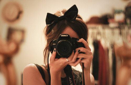 beautiful, beauty, bow, camera, cute