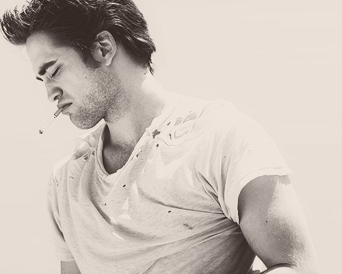 beautiful, black and white, boy, cute, robert pattinson