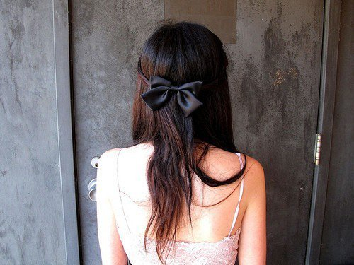 beautiful, black, bow, bows, fashion